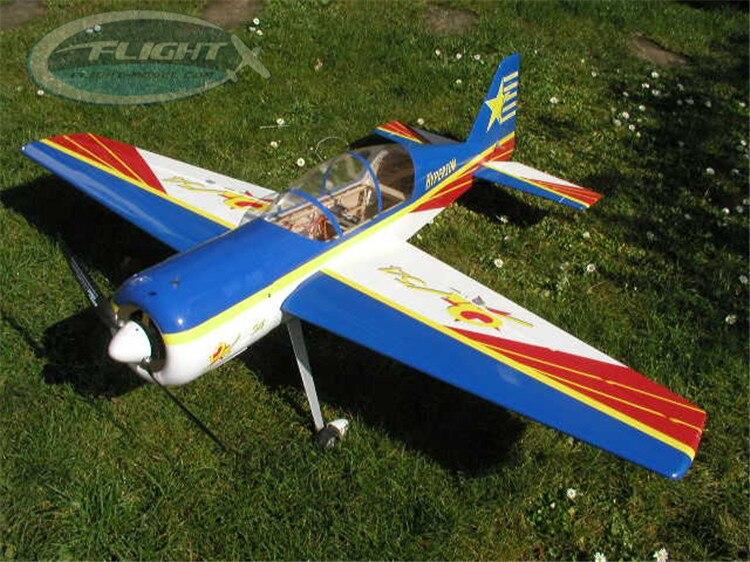 Offre spéciale HAIKONG A014C Électrique Avion 55 YAK54 40E En Bois Fixe Aile RC Avion Ciel-fly