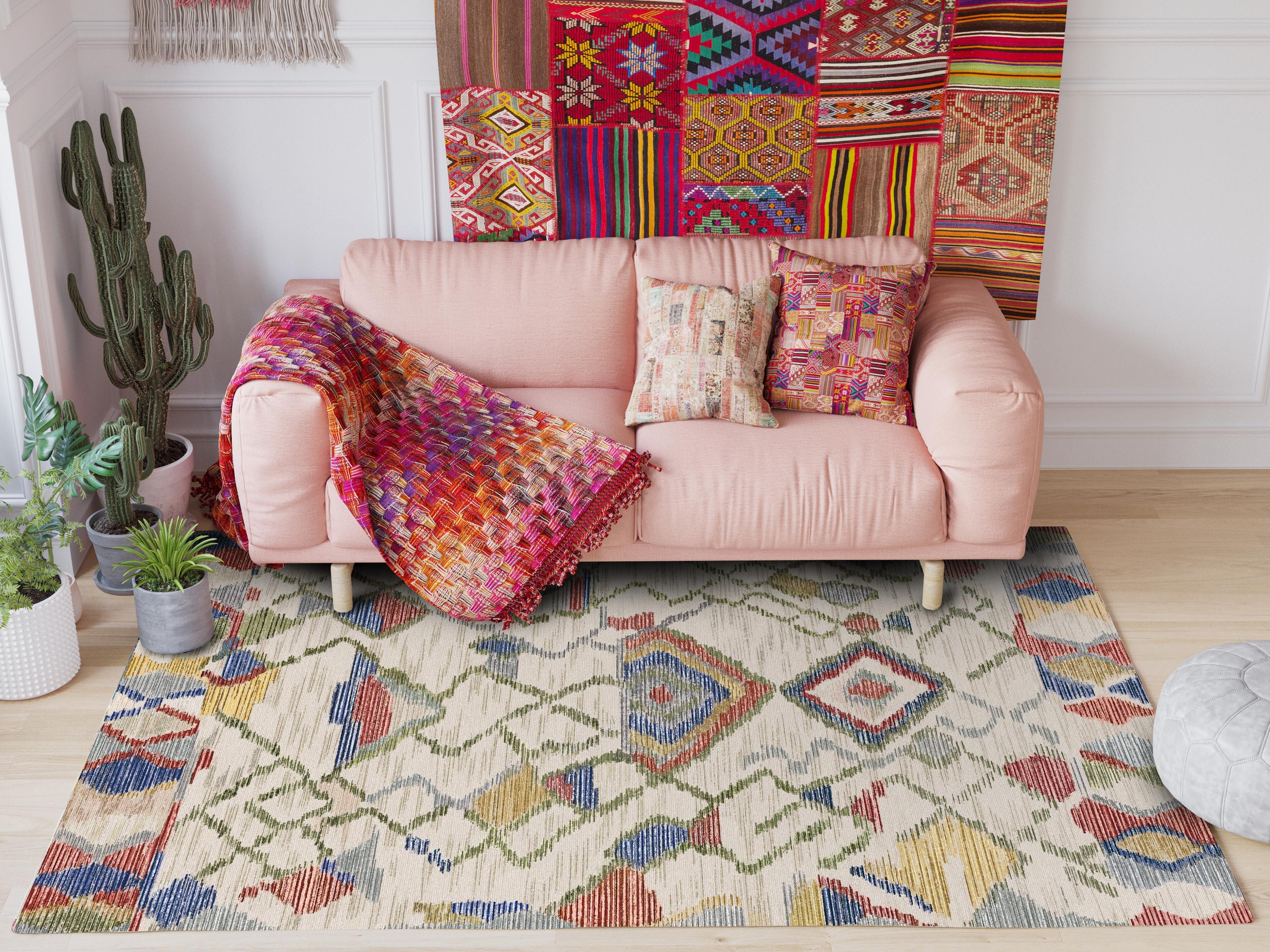 Tapis de Style marocain pour salon décor Polyester tapis de sol porte tapis maison tapis délicat nouveau tapis de chambre moderne