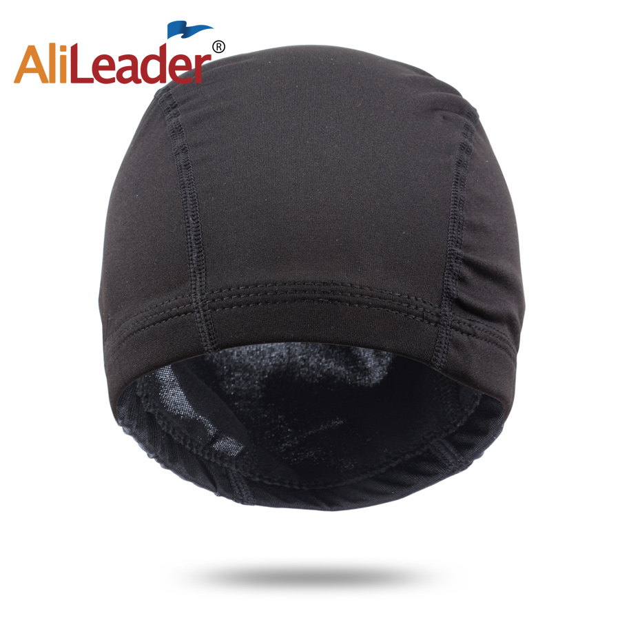 AliLeader 1PC Wholesale Wig Caps For Making Wigs Mesh Spandex Dome Cap Strech Glueless Hair Weave Net Elastic Black Cheap Wigs