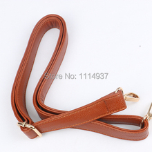 Brown thickening PU women's handbag taping tape shoulder strap suspenders school bag belt cross-body belt