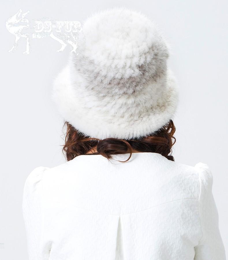 Weave real mink fur hat03