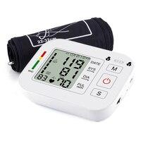 MHKBD Arm Blood Pressure Medical Monitor Automatic Digital Heart Beat Rate Pulse Display Meter Tonometer Health Care Equipment