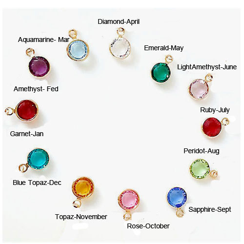 5pcs gold tone birthstone crystal charm birth stone charm bezel set crystal birthstone colors. Black Bedroom Furniture Sets. Home Design Ideas