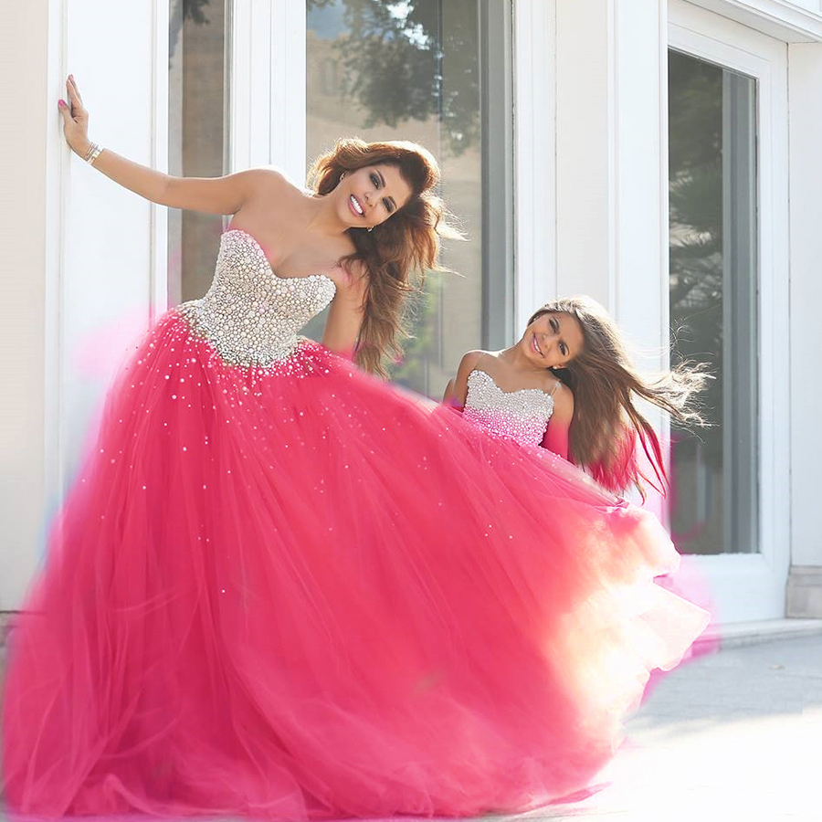 Sweet 16 Dresses Hot Pink Ball Gowns 2016 Latest Fashion Party Dress ...