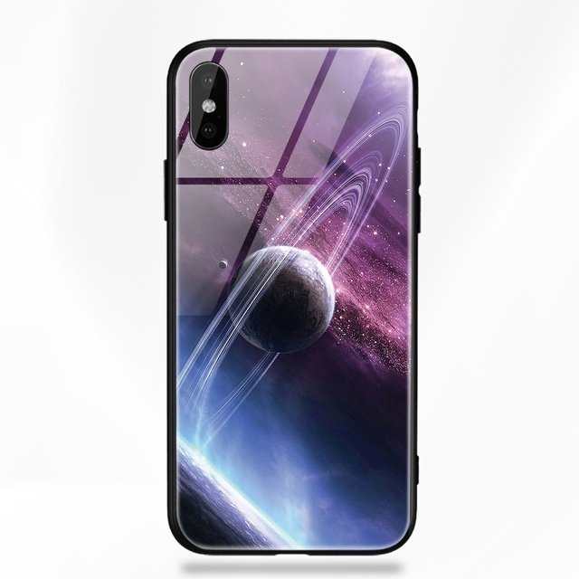 free shipping 50b9f 70ef0 iPhone Glass Back Cases with Space Themed Prints