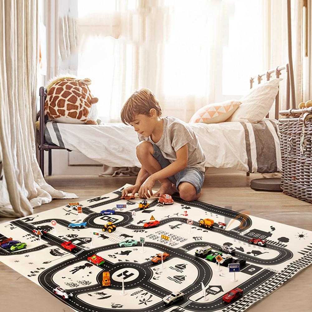 North European Style Kids Car City Scene Taffic Highway Map Play Mat Educational Toys For Children Gym Games Road Carpet