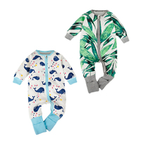 Romper Long Sleeve Jumpsuit Colorful Baby Clothing Outfit Set Newborn Toddler Infant Baby Boys Girls Printing