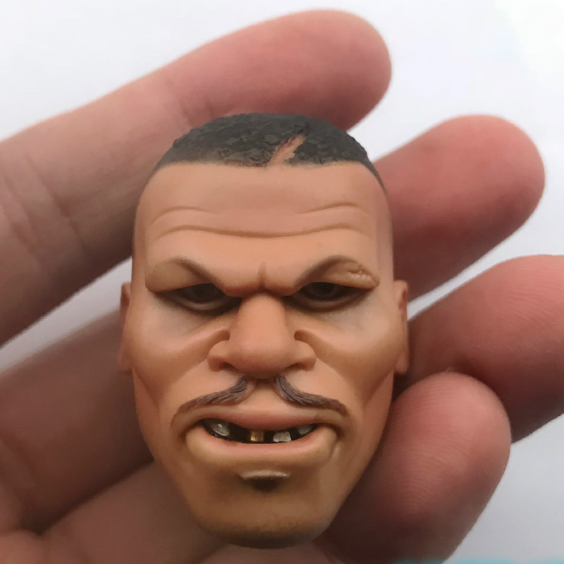 Custom DAM Toys Head 1/6 Scale <font><b>Gangster</b></font> <font><b>Kingdom</b></font> Heart 2 Benson action figure's head sculpt image