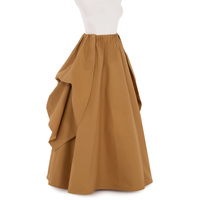 Solid Victorian Style Khaki Skirt and Overskirt Ball Gown Vantage Fold Retro Skirt Petticoat Vanessa Custom Make Free Shipping