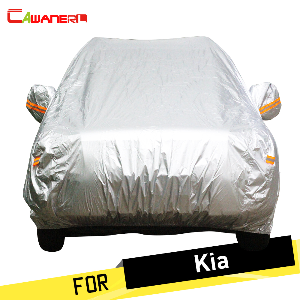 Cawanerl Car Cover Sun Rain Snow Protector Dustproof Cover Sunshade For Kia Cerato Sportage Soul Optima