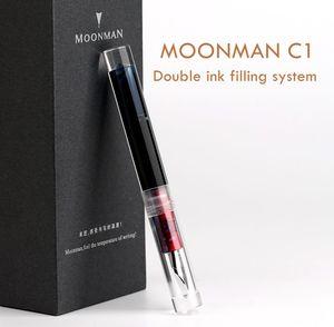 Image 1 - מונמן C1 שקוף הטפטפת עט נובע F ציפורן דיו עט קופסא מקורית