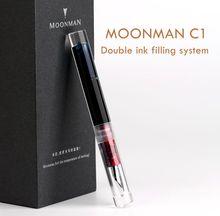 Moonman C1 โปร่งใส Eyedropper Fountain PEN F Nib Ink ปากกา Original BOX