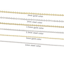5pcs/lot 316L Stainless Steel 45cm Link Chain Necklace Gold Silver Tone Fashion Cable Chains Wholesale