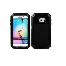 Hot Sale Powerful Shockproof Waterproof Metal Tempered Glass Metal Cover Cell Phone Case For Samsung Galaxy S6 G9200 S6 edge чехол для для мобильных телефонов oem bling samsung s6 g9200 s6 case for samsung galaxy s6 g9200