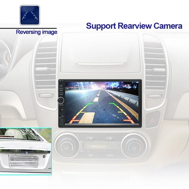 Auto Radio 2 Din Android GPS Navigation Car Radio Car Stereo 7″1024*600 Universal Car Player Wifi Bluetooth USB Audio