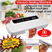 110 V-240 V бытовой пищевой вакуумный упаковщик электрическая упаковочная машина для запечатывания пленкой вакуумный упаковщик запайки сухой мокрой Еда с 10 шт. сумки