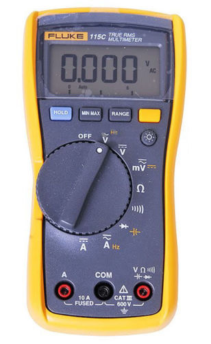 Fluke 115C True RMS Field Multimeter 1000uF Backlight Digital Multimeter Meter Field Multimeter 1000uF Backlight F115C