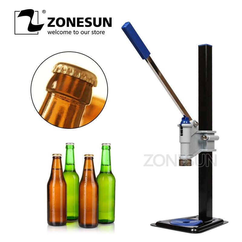 ZONESUN maszyna do zamykania butelek piwa instrukcja pokrywa piwa Capper uszczelniania piwa kapslowania napojów bezalkoholowych maszyny zamykające wody sodowej Capper