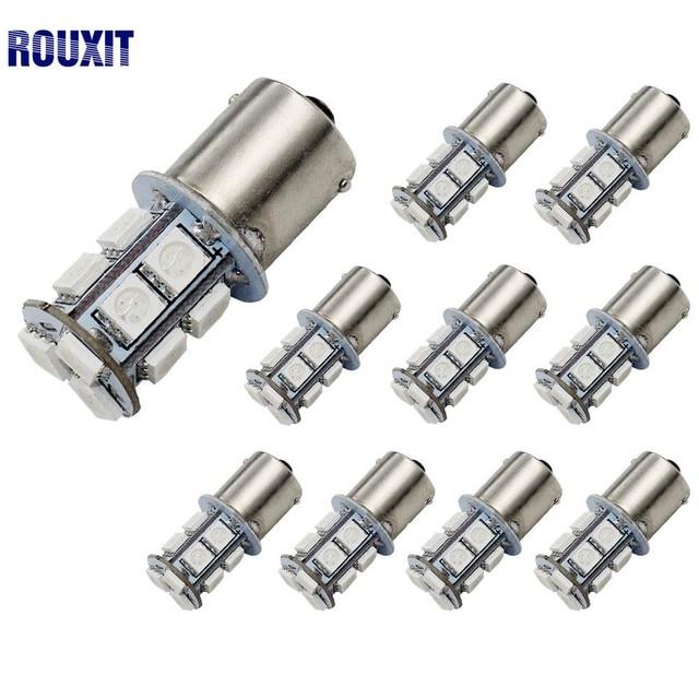 100Pcs 12V 1156 1157 BAY15D P21/5W 13 SMD 5050 Car Led Turn Signal Lights Brake Tail Lamps 13SMD Auto Rear Reverse Bulbs