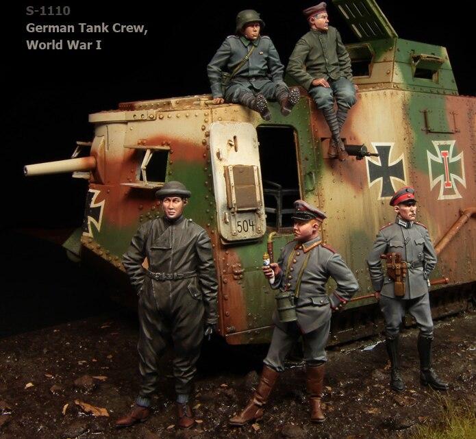 1:35 scale resin model kit resin figure model soldier A1110 big set 5 figures