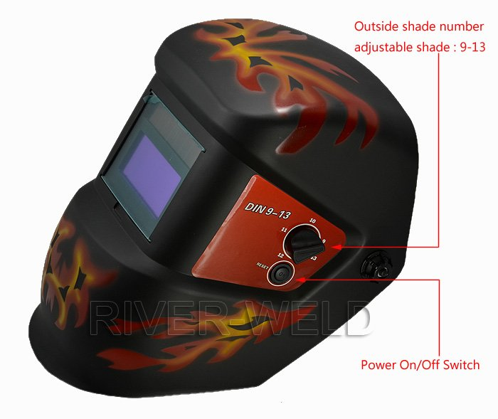 Auto Darkening Welding Helmet Solar Face Mask for ARC TIG CUT Solar Atuodark Shield Mask Big View Area Welder Goggles цены