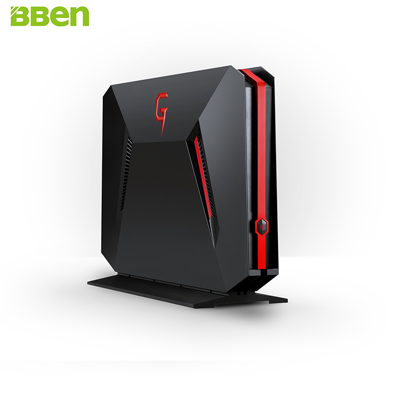 BBEN GB01 Mini PC Gaming Computer Intel i7 7700HQ NVIDIA GTX1060 GDDR5 Windows 10 16GB RAM M.2 SSD HDD Option DP HDMI WiFi BT4.0 ddr4 ram 7th gen kaby lake i7 7500u mini pc windows 10 fanless computer 4k hdmi dp htpc 300m wifi dhl free