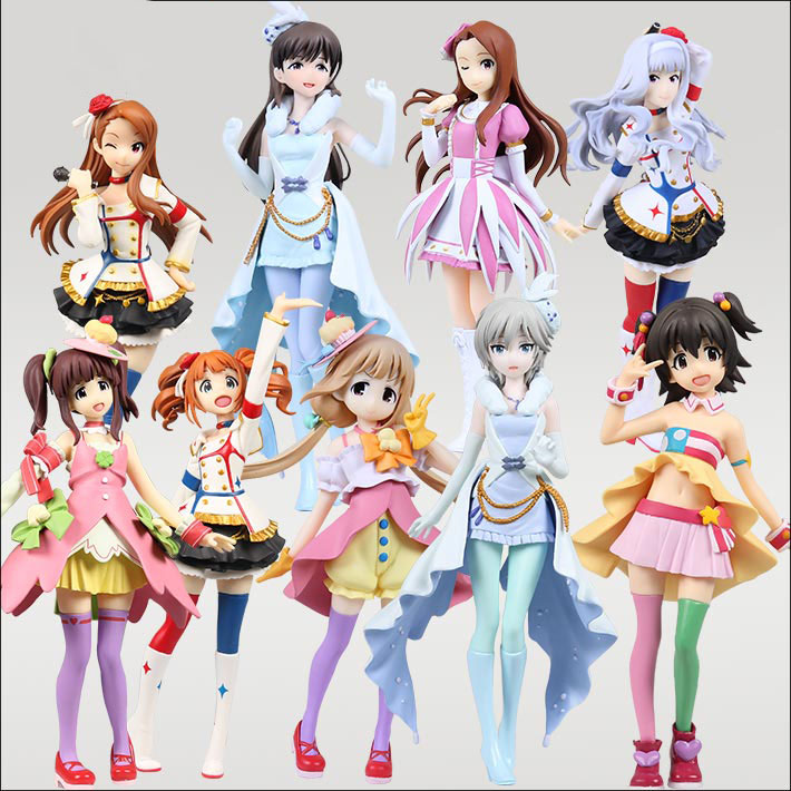17-18cm Japanese original anime figure THE IDOLM@STER Cinderella Girls action figure collectible model toys for boys J01 17cm japanese original anime figure shokugeki no soma megumi tadokoro action figure collectible model toys for boys