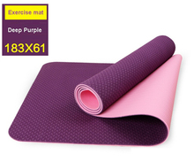 Yoga Blanket Health Care 6mm Thick Exercise Yoga Mat Pad TPE Non-Slip Lose Weight Exercise Fitness Folding Gymnastics Cushion