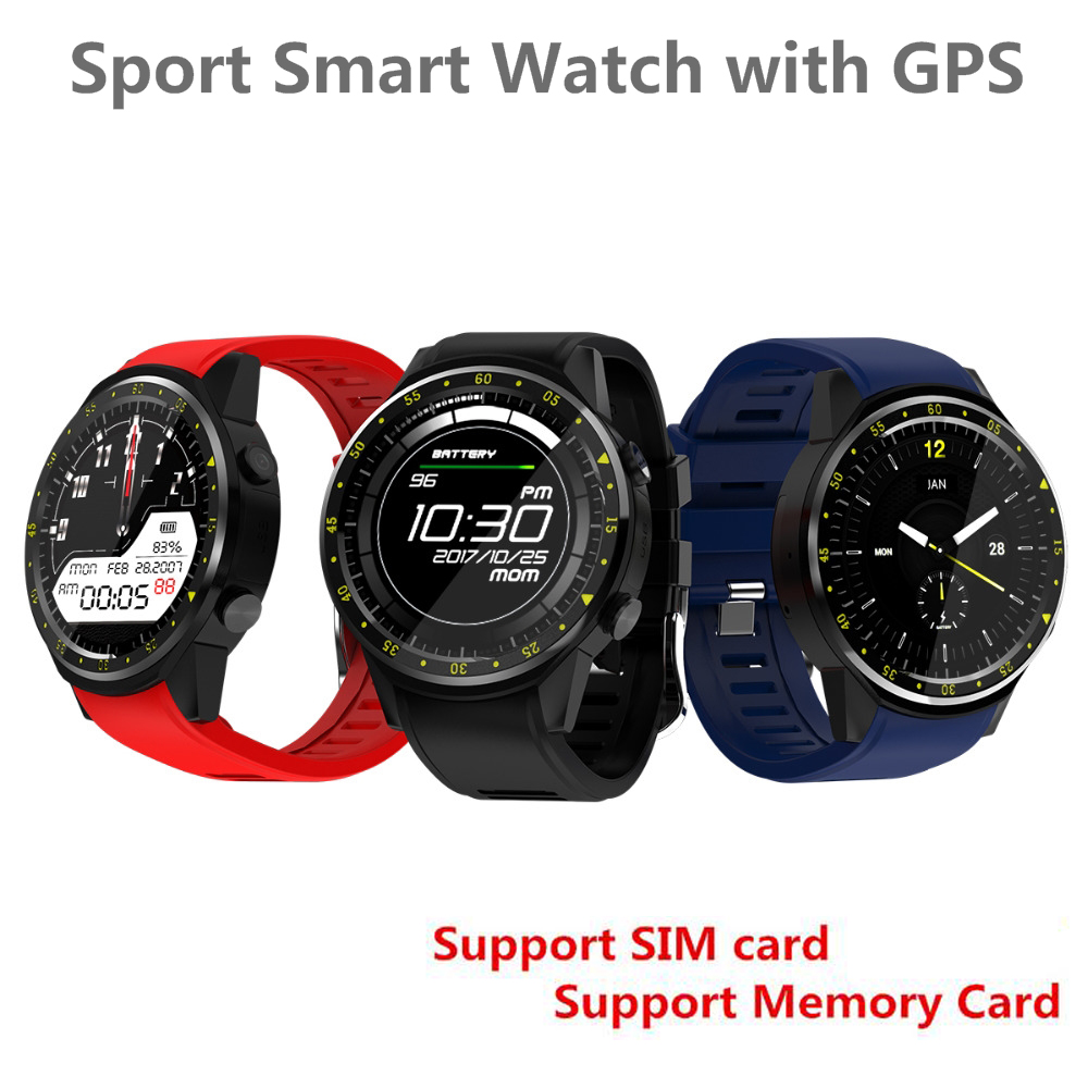 цена F1 Sports Smartwatch Phone 1.3 inch MTK2503 Dual Support SIM TF Card Bluetooth GPS Camera Heart Rate Sleep Monitor Smart Watch онлайн в 2017 году