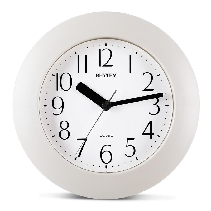 RHYTHM 7inch jednoduchá koupelna kuchyně nepromokavé nástěnné hodiny kreativní domácí dekor tichý křemenný stolní hodiny se stojanem