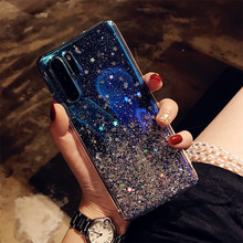 Transparent Bling Starry Sky Glitter Phone Case for Huawei for P30 Lite P20 P30 Pro P20Lite Crystal Sequins Soft Silicone Covers аксессуар чехол для huawei p20 pro ibox crystal silicone transparent