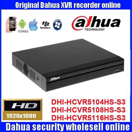Dahua original 4/8/16CH DHI-HCVR5104HS-S3/HCVR5108HS/HCVR5116HS-S3 1080P HDCVI Video Recorder HCVR H.264 Audio Video Recorder dahua hcvr 4 8 16ch tribrid hdcvi