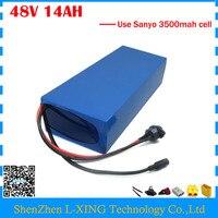 High Quality 48V 14AH Electric Bike Battery 48V 14AH PVC Lithium Battery Use SANYO NCR18650GA 3500mah