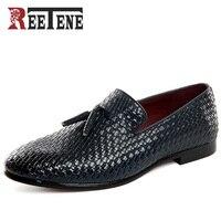 Barato REETENE hombres zapatos 2017 nuevos hombres planos transpirables cómodos hombres mocasines de lujo hombres zapatos planos casuales más tamaño 48