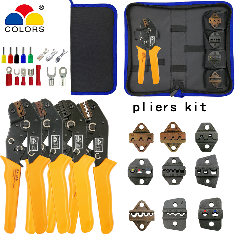 SN-2549 SN-48B crimping pliers 4 jaws kit for TAB 2.8 4.8/C3 XH2.54 3.96 2510/tube/non insuated terminals electric clamp toolsSN-2549 SN-48B crimping pliers 4 jaws kit for TAB 2.8 4.8/C3 XH2.54 3.96 2510/tube/non insuated terminals electric clamp tools
