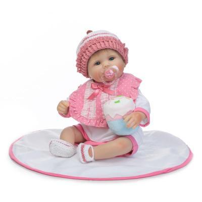 """Nya 40cm 18 """"mjuka silikon Reborn Dolls söta återfödda barn dockor med dummy napp barn bebe gåva återfödda bonecas"""