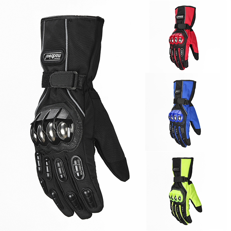 ILM Riding Gloves Alloy Steel Motorcycle Gloves Warm Waterproof Windproof for Winter Use Motorbike Gloves Four