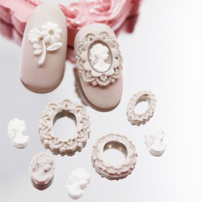 Hot reusable acryl nailart silikonform vorlage Girly kopf/blume ...
