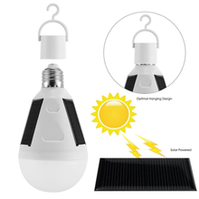 Rechargeable Led Bulb E27 LED Solar Lamp 7W Outdoor Emergency Powered Camping Hiking Fishing Light Bicycle Lights