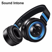 Sound Intone P6 Wireless Bluetooth Headphones with Microphone Support TF Card FM Radio Stereo Headset for PC phones xiaomi IOS