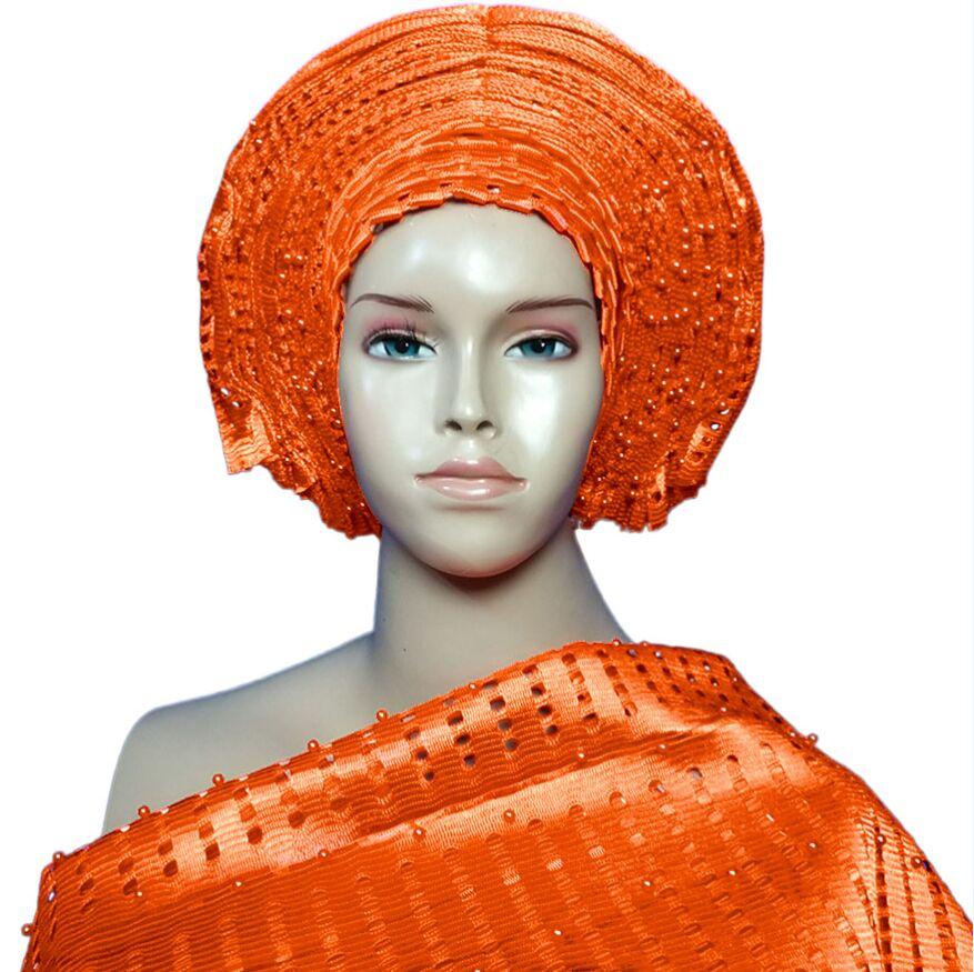 African Head Wraps Auto Gele Headtie Aso Oke Gele With Shoulder Gele Free Shipping