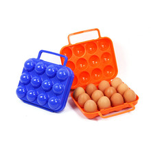 Portable 12/6 Eggs Plastic Container Holder Folding Egg Storage Box Handle Case Specially designed for carrying the eggs easily