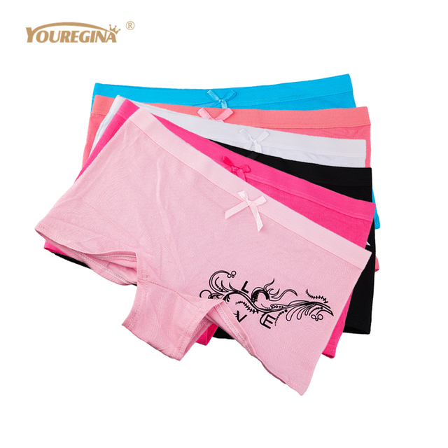 6759927d1c8 YOUREGINA Sexy Women Underwear Cotton Boyshort Panties Soft Boxer Briefs  Girls Shorts Knickers for Ladies 6 pcs lot