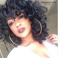 High quality female kinky curly wigs for black women Synthetic hair women wigs african american full short curly black hair wigs