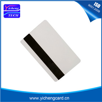 Free shipping 200pcs Blank Plastic CR80 Hico magnetic stripe Cards ISO standard size printable white pvc card