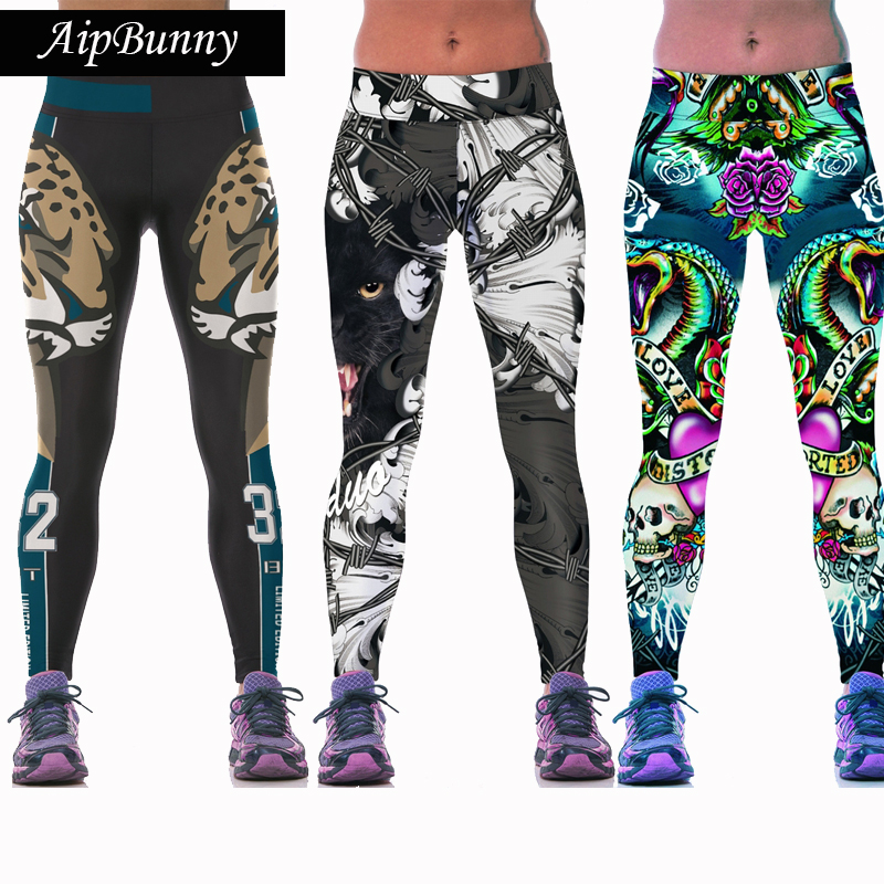 Aipbunny Sexy Girl Women Animal 3D Prints Sports Yoga Leggings High Waist Running Fitness Sport Leggings Jogger Yoga Pants