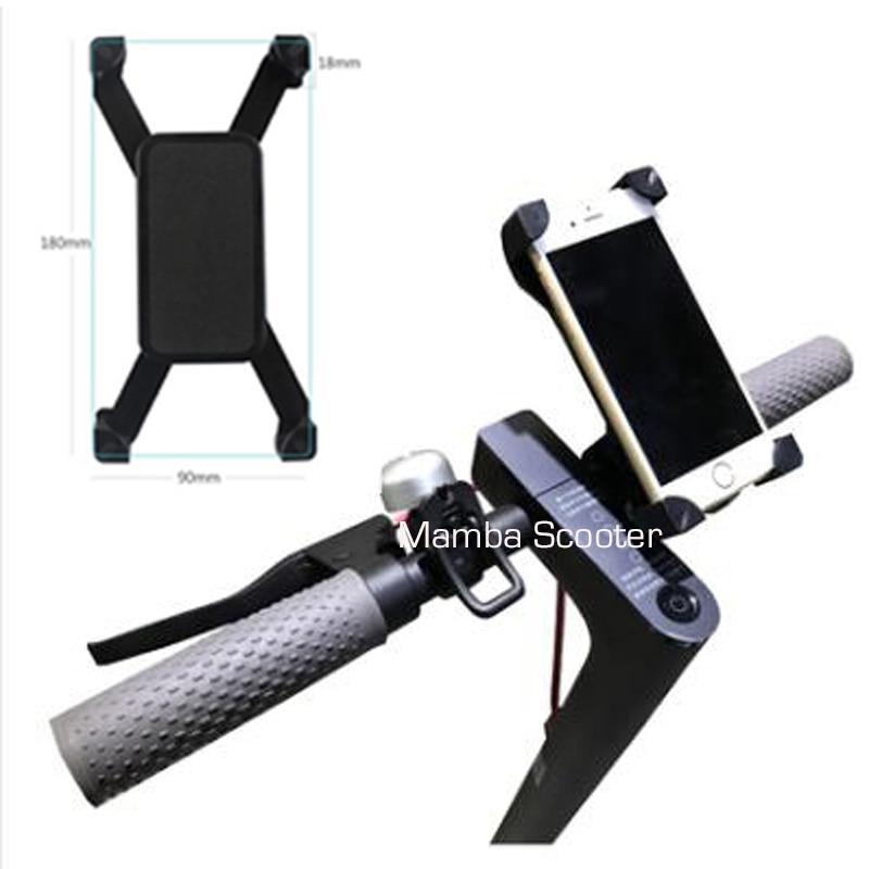 Adjustable Scooter Phone Holder Handbar Clip Stand Mount for Xiaomi Mijia M365 Electric Skateboard Qicycle EF1 Bike Anti-Slip