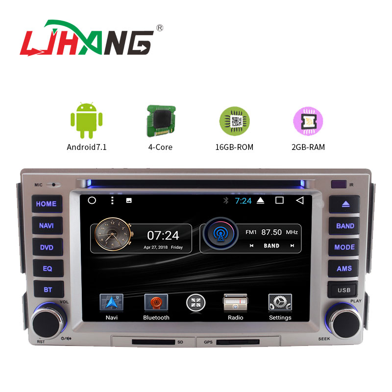 LJHANG 2 din Android 7.1 Car dvd Player for Hyundai SANTA FE 2006-2012 Multimedia 4G/3G wifi GPS auto radio video headunit RDS ljda 2 din android 7 1 car dvd player for hyundai santa fe elantra wifi gps radio autoaudio stereo multimedia 2g 16g quad cores