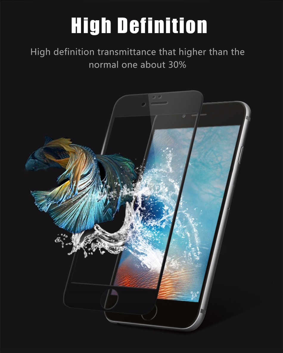 Temper glass screen protector for iphone 6 6s plus (8)