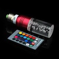 โคมไฟคริสตัล85-265โวลต์E27 RGBหลอดไฟLED 16สี